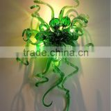 Contemporary Office Blown Art Glass Sculpture Wall Lamp