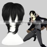 High Quality 35cm Short Straight DuRaRaRa -Orihara Izaya Black Synthetic Anime Wig Cosplay Costume Hair Wig Party Wig