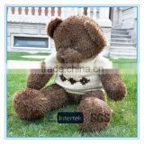Plush teddy bear with knitted T-shirt