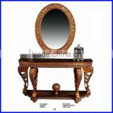 Classic Marble Top Console Table with Mirror S-0091B