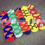 Fashion boys and girls Socks superman The Avengers Sports Ankle Socks cotton