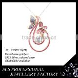 Playful dancing butterfly pendant charm sterling silver 925 jewelry pendant as a gift