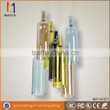 New design colourful wine bottle glass pendant lamp with great price