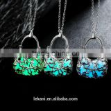 Factory supply for handbag shaped pendants necklace,glow in the dark necklace for ladies