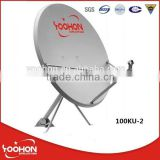 Satellite dish, KU 100cm satellite antenna