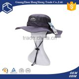 Stylish 2015 custom funny mesh vented fishing bucket hat with string