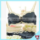 Korean Style White and Black Classical Sexy Bra Set