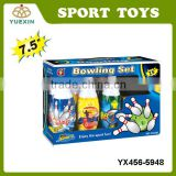 Wholesale Plastic Kids Sport Toy Bowling Set with EN71, HR4040,ASTM