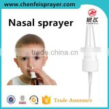 Custom 18 410 white ribbed closure spray nozzle plastic discharge rate 0.1ML nozzle nasal sprayer pump for bottle medical
