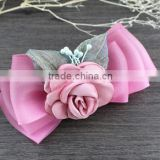 elegant fabric flower decoration hair bow plastic hair accessories banana clips hair