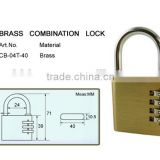 Heavy duty brass padlock 10 mm Pad locks combination lock steering wheel combination lock