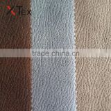 latest 100% polyester three-layered adhesive bronzed embossed synthetic faux leather suede fabrics for sofa furniture upholstery