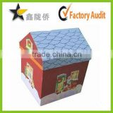 Chinese printing factory supplier customized house shape gift box for Christmas promotion or gift