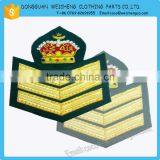 Handmade Bullion Wire Badges | Hand Embroidery Badges with gold & silver bullion wire embroidery                                                                         Quality Choice