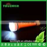 2016 New Disign Rechargeable LED Flashlight Torch Lighters with Charger Camping Light Plastic Torch Light