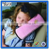 Comfortable Anti-bacterial children car safety seat belt pillow, Cotton soft velvet shoulder pad pillow