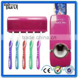 Touch me automatic hand free squeeze out toothpaste dispenser for bathroom accessories, children toothbrush holder set