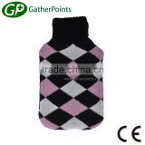 Nice Knitted Cover 2000ml Rubber Hot Water Bottle Cover