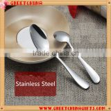 Promotional customize size round stainless steel tea spoon                                                                                                         Supplier's Choice