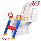 Folding baby training toilet seat with ladder step