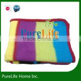 SZPLH Bright color strips cotton knit baby blanket throw