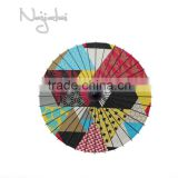 Unusual Shape Colorful Hand Painted Handmade Japanese Cloth Paper Umbrella