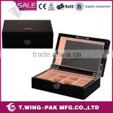 jewelry display and storage, black lacquering, luxury velvet, mirror, wooden jewelry collection box&case