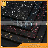 waterproof recycled rubber granules color EPDM speckles rubber sheet
