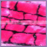 wholesale acrylic hi-pile jacquard knitting red fur fabric for clothing China suppier