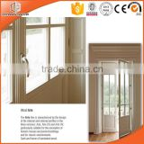 USA standard entry aluminium wood composit double hinged doors wood sliding glass door with 10 years warranty