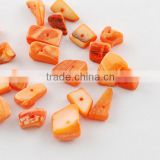 Orange Colored Freshwater Shell Scraps(BSHE-S007-1)