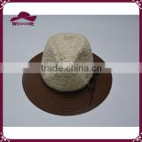 Straw panama hat with lace hat body