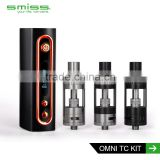 vape starter kit free sample Smiss OMNi TC kit electronic cigarette vape mods 50W with sub ohm tank