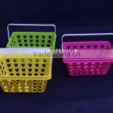 Plastic storage basket/basket/Handle basket/Mini baskets/Sundries Basket/oblong basket/small basket/kid basket/Single handle