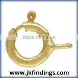 1/20 14K Gold Filled Jewelry Findings 5.0mm Spring Ring Light w/Closed Ring GP