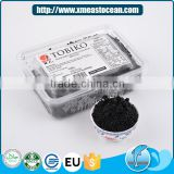 Hot selling Japanese sushi material healthy black frozen seasoned flying fish roe
