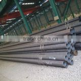 HOT ROLLED SEAMLESS STEEL PIPES SCH40,BEVEL ENDS BLACK VARNISH COATING WITH PLASTIC CAPS
