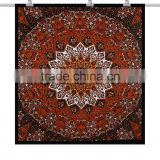 Rust mandala tapestry indian tapestry bedspread bohemian hippie tapestry beach throw home decor indian mandala tapestry fabric