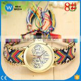 PW036 Fashion Style Special Rope Watch Knitted Braided Weaved Band Bracelet Quartz Dial Wrist Rope watch
