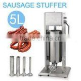 Sausage Stuffer 11lbs/5L Two Speed Commercial Vertical Stainless Steel Sausage Maker Restaurant Meat Filler