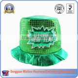 Happy New Year Festival LED Light UP Party Hats/Christmas Crazy Hat/Custom your own party hat