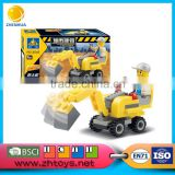 Mini excavator building plastic bricks toy 58pcs City building