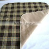 "Plaid reusable Bed Pad 34"" x 52"""