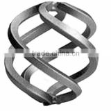 4 or 8 Twisted Wires Wrought Iron Basket For Fence, Gate