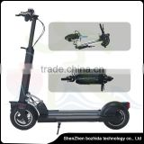 10 inch tire 2 wheels adult foldable electric scooter with dismountable seat for outdoor sports