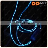 Newest mobile accessories Fashion LED EL earphone flat wire glowing cable earpones headphone