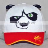 Guangzhou custom 100% cotton hat factory professional cartoon kung fu panda wacky expressions baseball cap