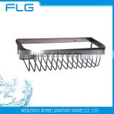 Top Fashion Metal Shower Shelf Accessory brass Single Storage Basket Wall Mounted Bathroom Rack