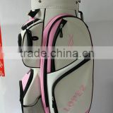 lady golf cart bag with cooler bag,putter tube and umbrella tube