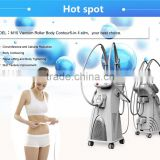 4 handles Vela Vaccum Roller Shape body slim and weight loss RF with Vaccum Roller slim machine